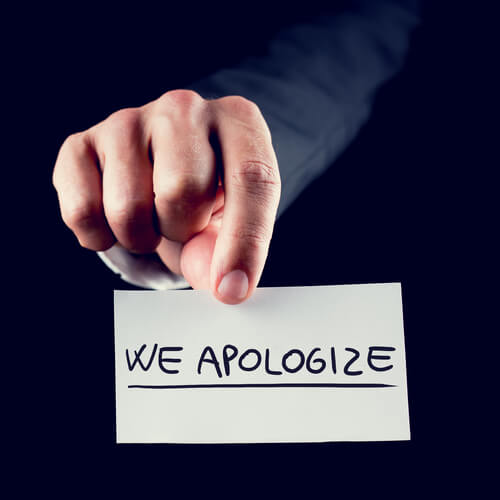 Reasons to Apologize