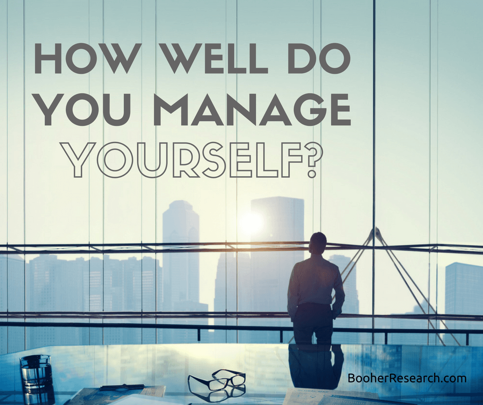 Managing Your Own Behavior