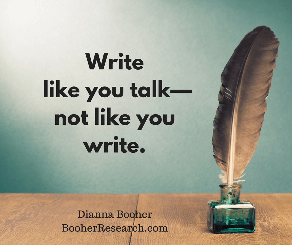 Have You Lost Your Writer's Voice? - Booher Research Institute