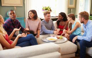 parties, small talk, holidays, communication